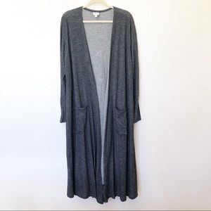 LulaRoe Size XL Sarah Striped Long Duster Cardigan